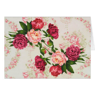 Pretty Pink Roses Large Font Birthday Card カード