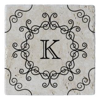 Pretty swirly monogram トリベット