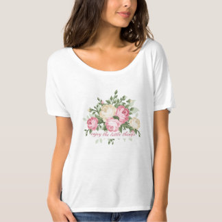 Pretty vintage floral enjoy the little things tシャツ