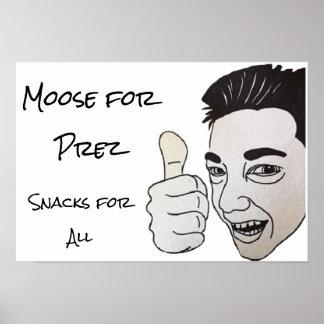 Prezのためのアメリカヘラジカ ポスター