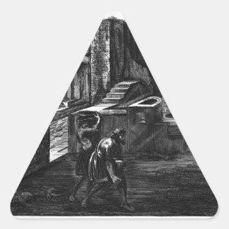 Priapusの居酒屋の割れ目そして高度 三角形シール