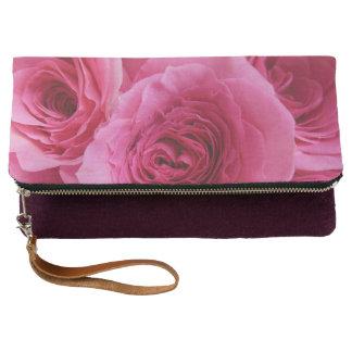 Pridefulピンクのバラ クラッチバッグ