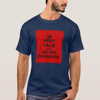 PRIMALBEASTSは平静および発掘を保ちます! Tシャツ! 赤い Tシャツ