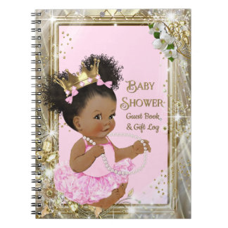 Princess Baby Shower Gift Log and Guest Book ノートブック