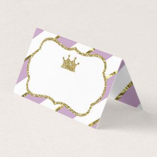Princess Place Cards, Food Cards, Faux Gold プレイスカード