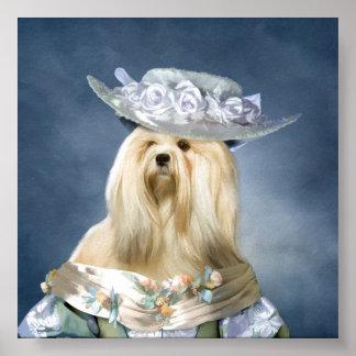 PrintラサApsoの男爵夫人 ポスター
