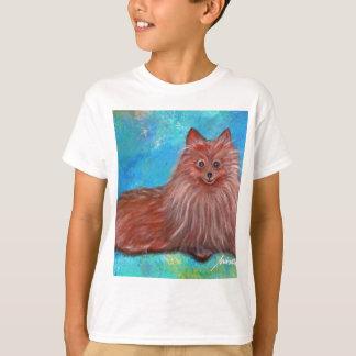 Prisarts著私のポメラニア犬犬 Tシャツ