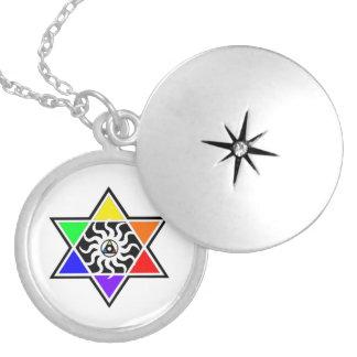 PrismWareのロゴの銀のロケットのペンダント シルバープレートネックレス