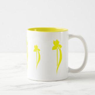 PRLimagesの黄色アイリスマグ ツートーンマグカップ