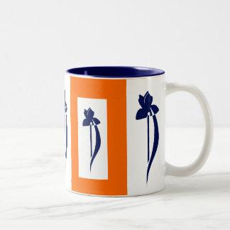 PRLimages OrangeNavyのアイリスマグ ツートーンマグカップ