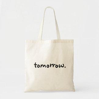 Procrastinatorのおもしろいな明日の引用文のタイポグラフィ トートバッグ