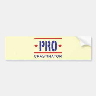 PROcrastinator_ バンパーステッカー