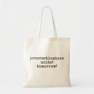 procrastinatorsは結合します! 明日! おもしろいなトートバック トートバッグ