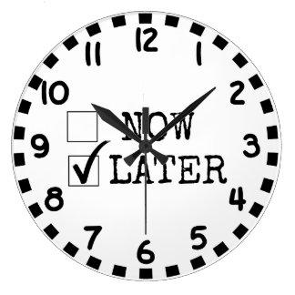 Procrastinators ラージ壁時計