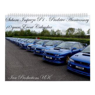 Prodrive P1 10年記念日のイベントのカレンダー カレンダー