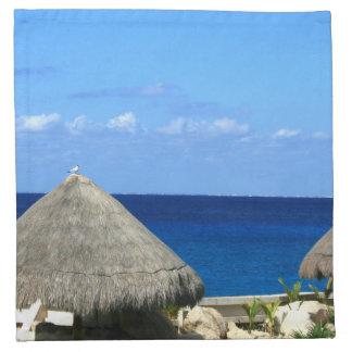 Progressoメキシコの素晴らしく青い海そして空 ナプキンクロス