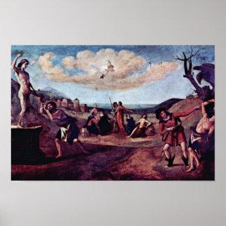 Prometheusの絵画順序の神話 ポスター