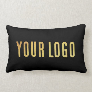 Promotional Your Company or Event Logo Lumbar Blk ランバークッション