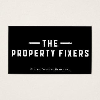 Property Fixers Black Business Card 名刺