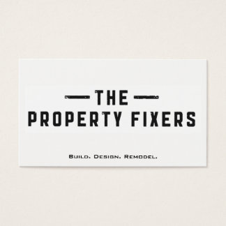 Property Fixers White Business Card 名刺
