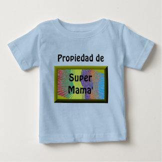 Propiedad de Super Mama' ベビーTシャツ