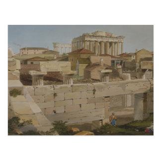 Propylaeaからのパルテノン、プレート7の眺め ポストカード