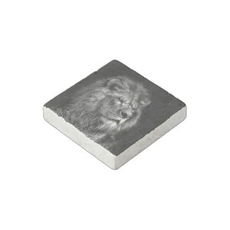 Proud Young Lion Stone Magnet ストーンマグネット