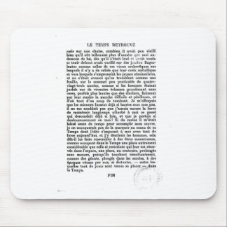 Proust: 取り戻される時間の最終的なページ マウスパッド