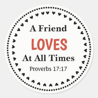 Proverbs 17:17 Sticker ラウンドシール