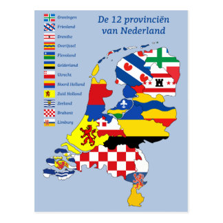 Province flag on Map Holland ポストカード