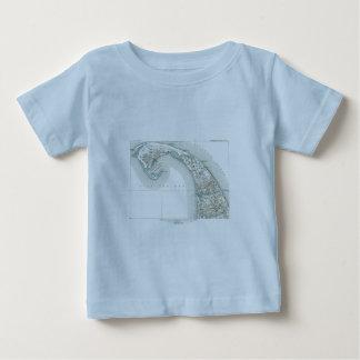Provincetownのケープコッドマサチューセッツの地図 ベビーTシャツ