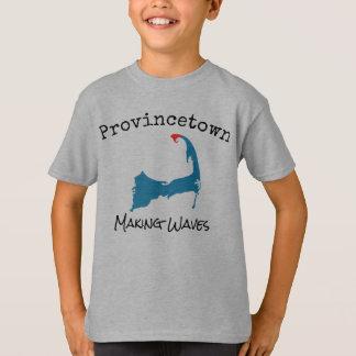 Provincetownの多くの作成は灰色男の子のワイシャツを振ります Tシャツ