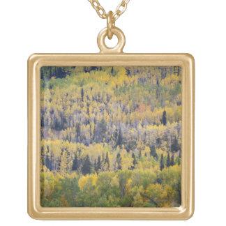 Provoの川および《植物》アスペンの木3 ゴールドプレートネックレス