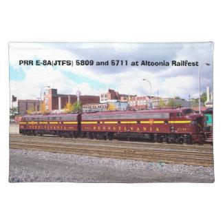 PRR E-8A (Altoonia RailfestのJTFS) 5809そして5711 ランチョンマット