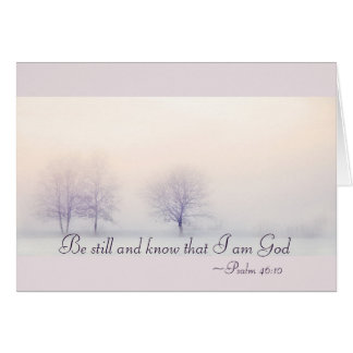 Psalm 46:10 Be Still and Know I Am God, Christmas カード