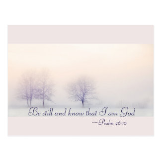 Psalm 46:10 Be Still and Know I Am God, Christmas ポストカード