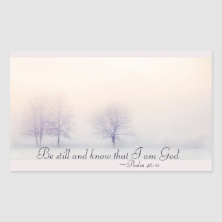 Psalm 46:10 Be Still and Know I Am God, Scripture 長方形シール