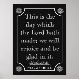 Psalms 118: 24 --- Art Print ポスター