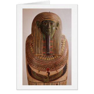 Psametik I (664-61の石棺の外のふた グリーティングカード