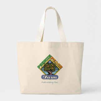 Psencikのモモの農場のトート! ラージトートバッグ