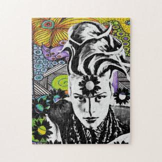 Psicodelicのポップ・アートのな女性のパズル ジグソーパズル