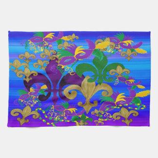 Psycadelicの多彩な(紋章の)フラ・ダ・リのカーニバルタオル キッチンタオル