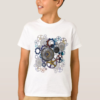 Psychadelicのsteampunkのギア、コグ、文字盤のギフト Tシャツ