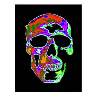Psychedellicのスカル ポストカード