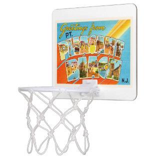 Ptの気持が良いビーチのニュージャージーNJのヴィンテージの郵便はがき ミニバスケットボールゴール
