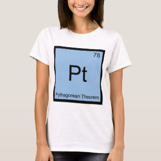 Pt -ピタゴラスの定理化学要素の記号 tシャツ