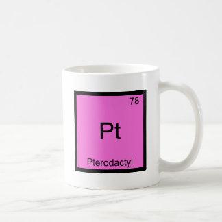 Pt - Pterodactylおもしろいな化学要素の記号 コーヒーマグカップ