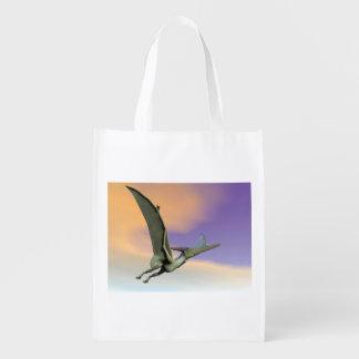 Pteranodonの恐竜の飛行- 3Dは描写します エコバッグ