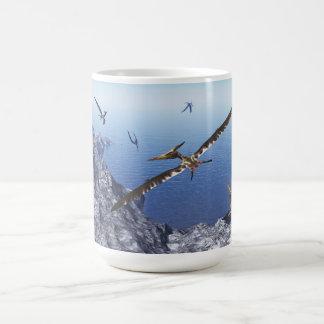 Pteranodonの鳥- 3Dは描写します コーヒーマグカップ