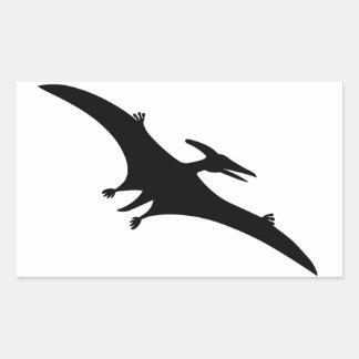 Pterodactylの恐竜 長方形シール